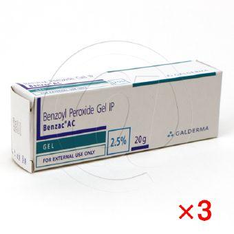 ベンザックACジェル2.5%【3箱セット】-1